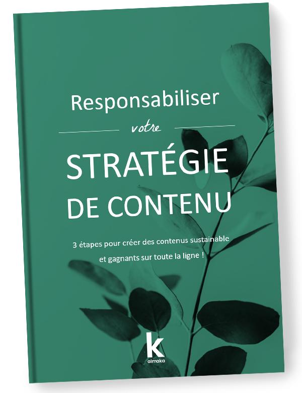 Couverture du livre blanc Almaka sur la stratégie de contenu durable